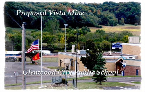 Vista Sand's frac sand mine, proposed less than a half mile from Glenwood City's school, is the driving force behind the December 17, 2013 recall elections engulfing the city council and its mayor.